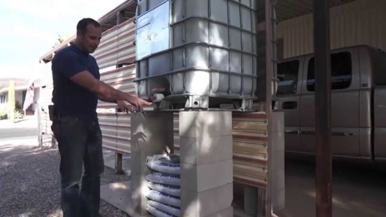Ibc Tote Rainwater Harvesting System Simple And Cheap