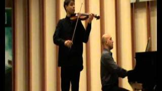 Milosz Mrozowski plays W.A.Mozart violin concerto No.2 in D major KV.211-Andante