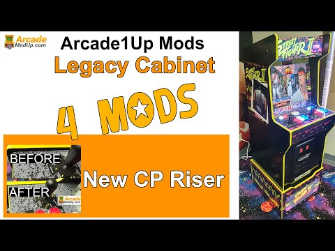 Mods for Arcade1Up Legacy Cabinet from ArcadeModUp