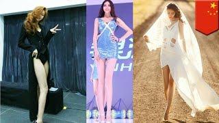 股下115センチ!驚異の美脚モデルが中国で人気沸騰中