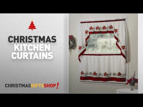 Top Christmas Kitchen Curtains Ideas: Lorraine Home Fashions Holly Valance, 56 by 12-Inch,