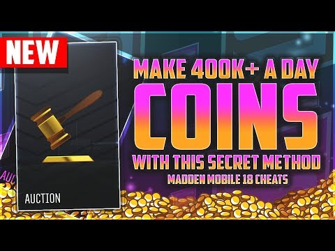 HOW TO MAKE 400k  A DAY IN MADDEN MOBILE 18! GET COINS FOR GOLDEN TICKETS!