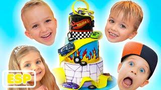 Feliz Cumpleaños Niki! Fiesta de cumpleaños de los niños con Vlad, Diana y Roma