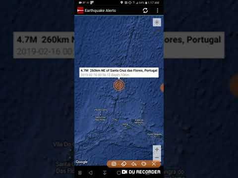Santa Cruz das Flores, Portugal Earthquake February 16th, 2019