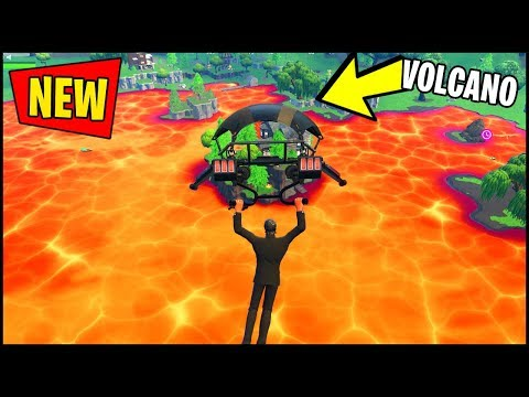 🔴 FORTNITE CUBE VOLCANO LOOT LAKE EVENT HAPPENING *RIGHT NOW* !!