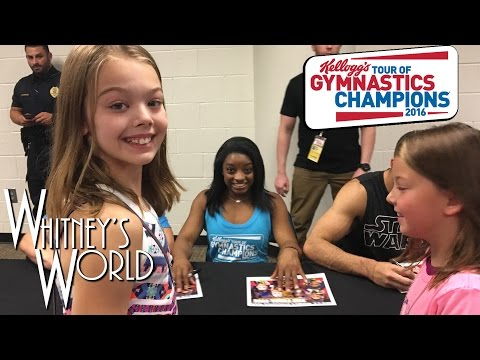 Whitney and Blakely at the Kellogg's Tour of Gymnastics Champions