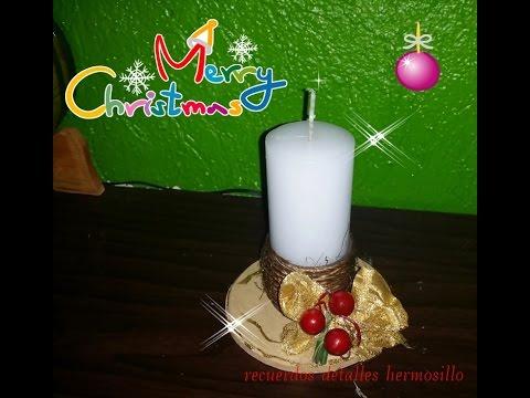 Diy como hacer vela navide a rustica youtube - Como hacer velas ...