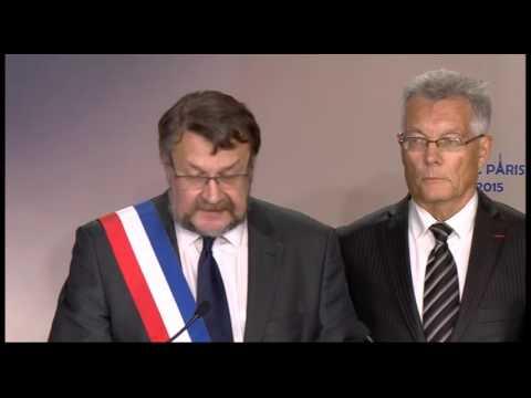 Bruno Macé à la cérémonie de solidarité avec le peuple français au siège du CNRI