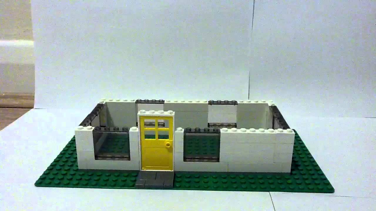 How To Build The Wall For Your Small Lego House Youtube