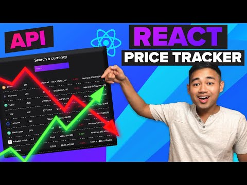 React API Project - Cryptocurrency Finance Price Tracker App Using Hooks And Axios
