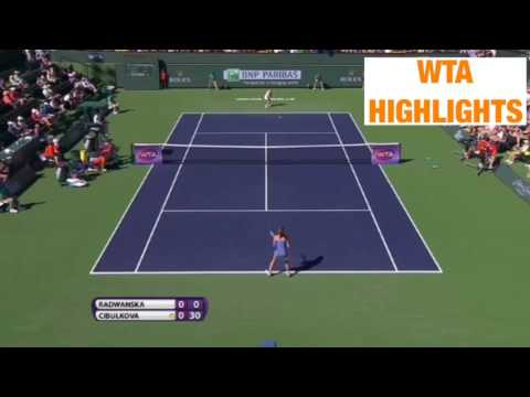 Agnieszka Radwanska vs Dominika Cibulkova Indian Wells 2R 2016 Highlights