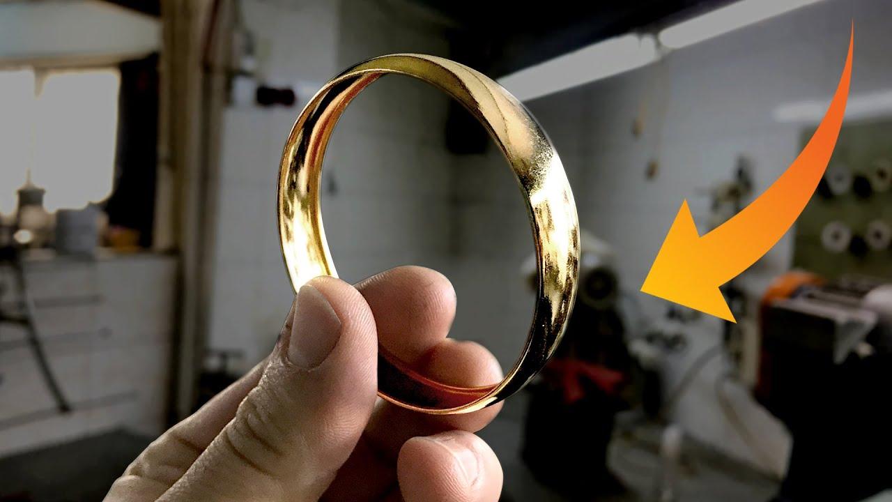 ¿Cómo hacen pulseras curvas huecas? - İçi boş bombeli bilezikleri nasıl yapıyorlar ?