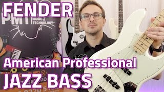 fender american professional jazz bass review demo