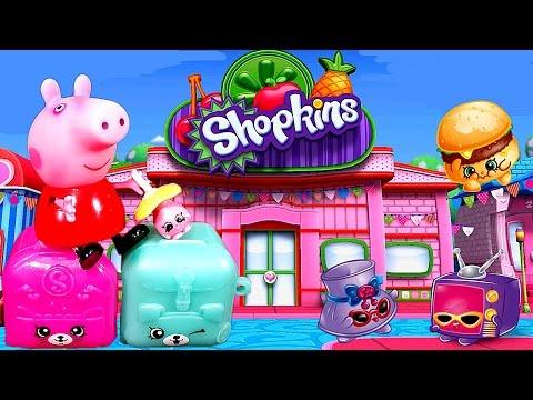 Видео: Пеппа в Супермаркете Шопкинс 5 сезон корзиночкиShopkins 5 season blind bags. Новинка 2016