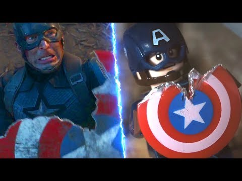 LEGO Avengers Endgame Final Battle Captain America VS Thanos Side By Side Comparison