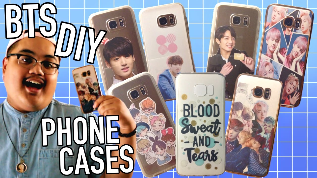 Diy Kpop Phone Cases Bts Edition Kpopamoo Youtube
