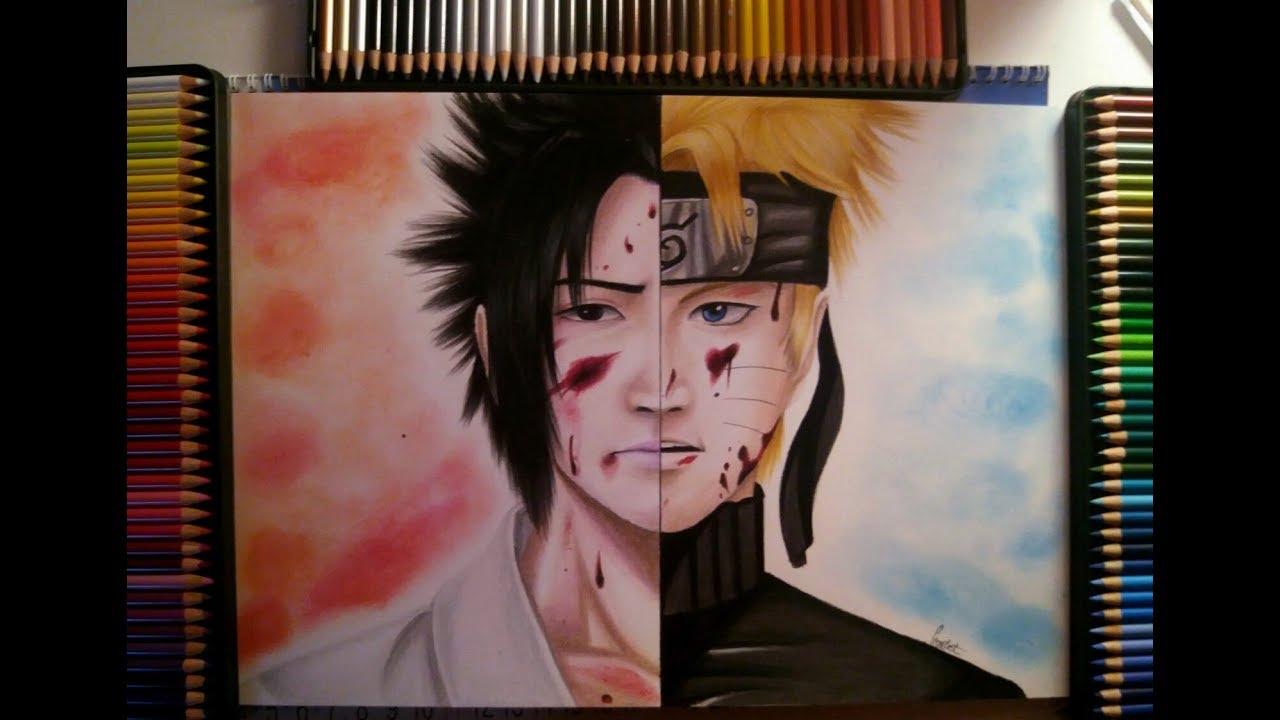 Drawing realistic sasuke naruto naruto shippuden original art