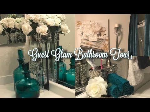 💎🛁2018-Guest Glam Bathroom Tour | Interior Design ~Glamorous Castle & Decor 💎🛁
