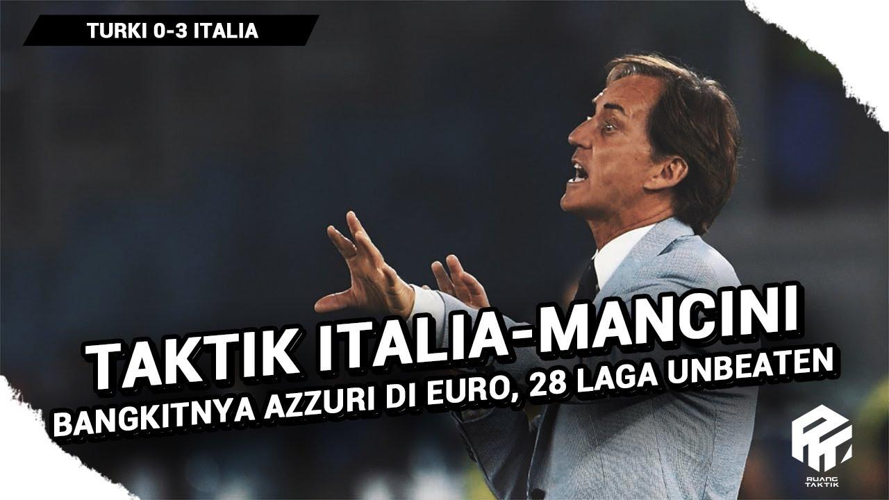 Taktik Italia - Roberto Mancini   28 Laga Unbeaten   Saatnya Bangkit di Euro
