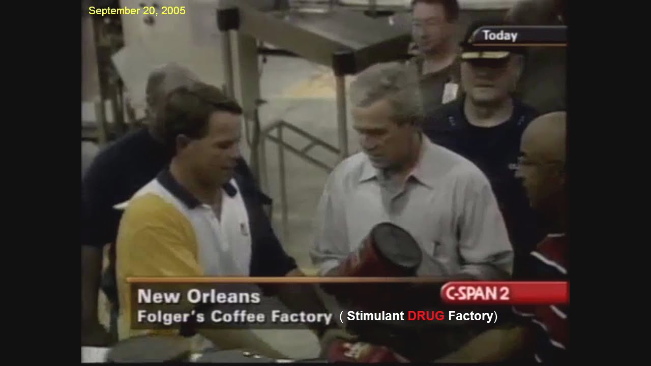 bush autographs folgers coffee after hurricane katrina bush autographs folgers coffee after hurricane katrina
