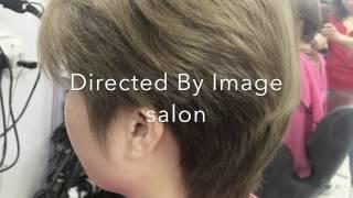 Ladies short hair cut