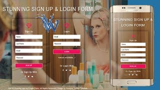 responsive login form html5 | Registration login form By Amazing Techno Tutorials
