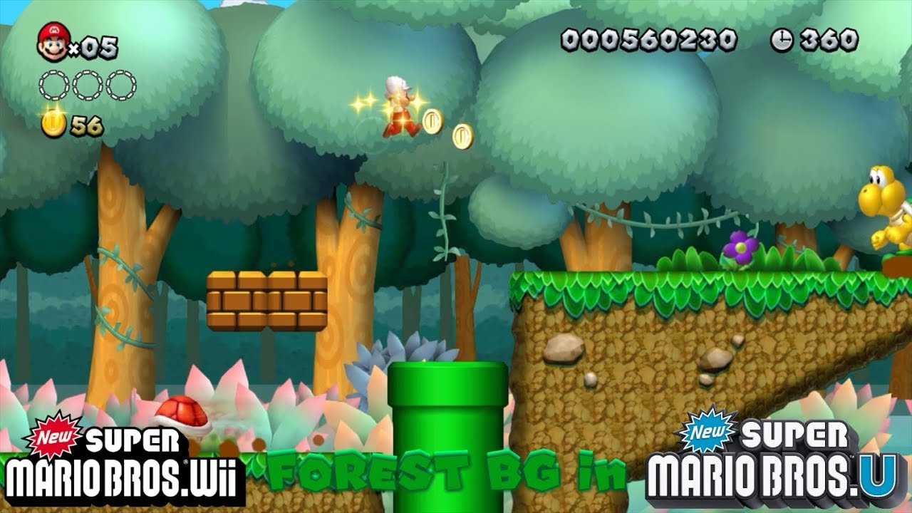 Nsmbw Forest Background In Nsmbu Youtube