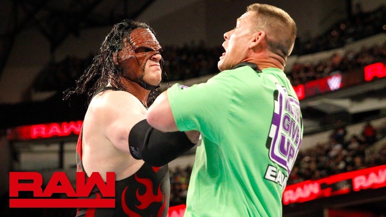 Download John Cena incites the wrath of Kane after insulting The Undertaker: Raw, March 19, 2018