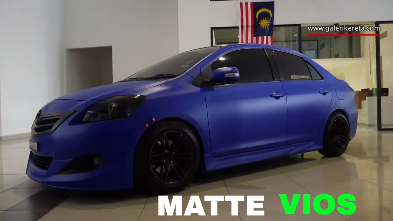 Matte Blue Vios Modified By Vios Garage Team Youtube