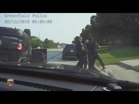 Greenfield Police pursuit and rollover crash