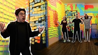 INSANE STICKY NOTE PRANK!