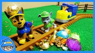 Paw Patrol rescue mission episode! Find treasures on the railroad tracks.