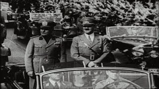 HD Stock Footage WWII - Road to World War II HItler, Mussolini, Chamberlain, Manchuria, Munich Pact