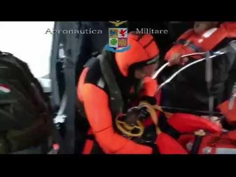 Soccorso Norman Atlantic - Elicottero Aeronautica Militare 30.12.2014