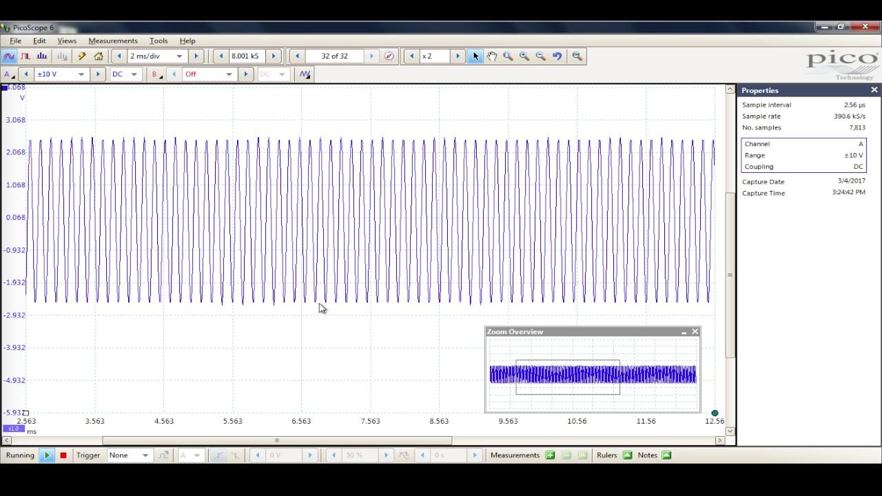 Ford ACM Non Variable Line Output Oscilloscoped