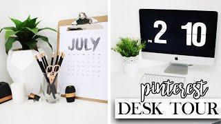 Desk Tour - Stationery & Decor Organisation / Pinterest Inspired