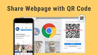 Create/Scan QR Code for URL using Google Chrome - Share Webpage with QR Code screenshot 1
