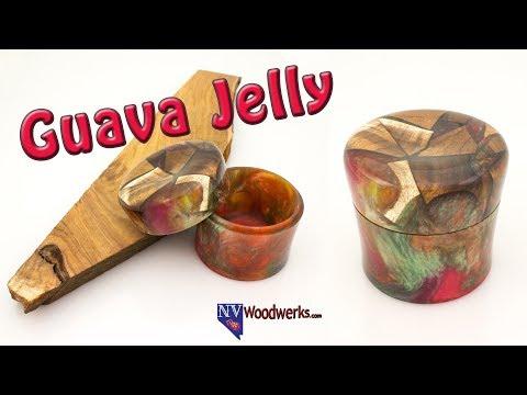 Resin Cast Koa Wood Hybrid Lidded Box | Dunkin Junk