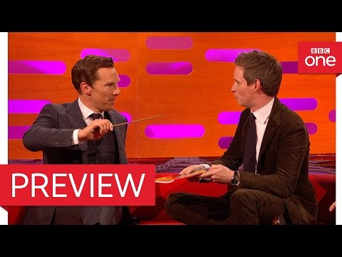 Eddie Redmayne and Benedict Cumberbatch perform magic!  The Graham Norton  2016  BBC One