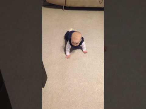 Baby lernt krabbeln