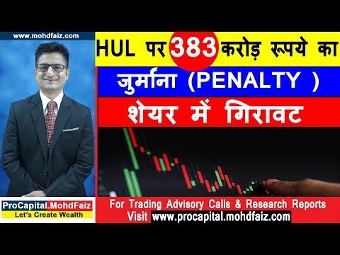 HUL पर 383 करोड़ रूपये का जुर्माना Penalty  शेयर में गिरावट | Latest Share Market News