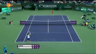 Angelique Kerber im Halbfinale von Indian Wells (ZDF)