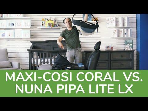 Nuna Pipa Lite LX Vs. Maxi Cosi Coral XP 2020 | Infant Car Seat Comparison | Infant Car Seat Review