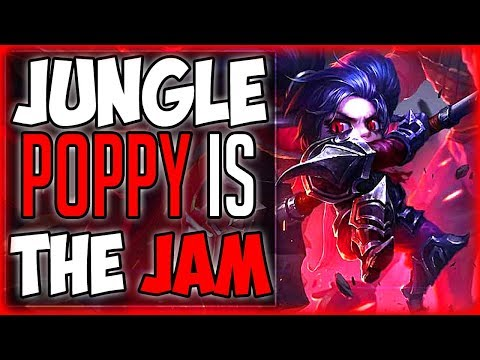 """UDYR """"Carry Support!"""" League Of Legends Poppy Jungle Season 8, Gameplay Funny moments"""