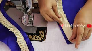 Saree Blouse Back neck Design Cutting and Stitching