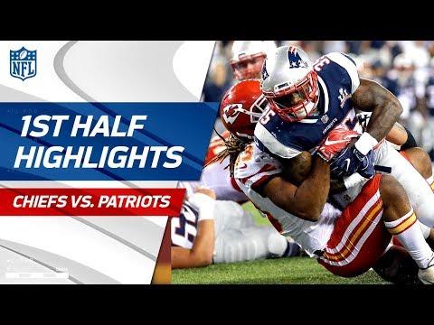 Chiefs vs. Patriots First-Half Highlights   NFL Week 1