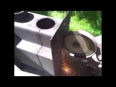 видео: Распил печи Везувий