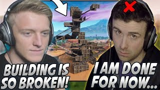 Tfue Explains Why BUILDING In Fortnite Is TOO OVERPOWERED! DrLupo QUITS Streaming With Facecam!