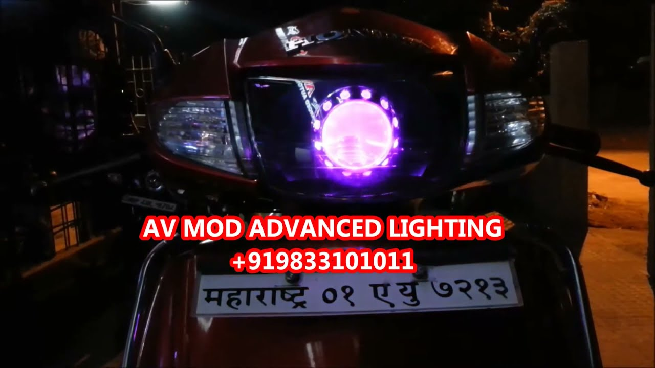 Honda Activa Multi Dimon Projector Headlight By Vishal