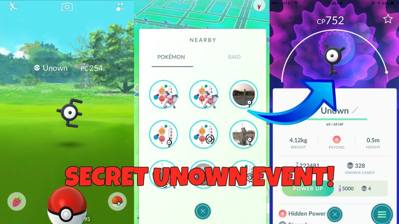 NEW SECRET UNOWN EVENT IN POKEMON GO! HOW TO GET A LOT OF UNOWN!
